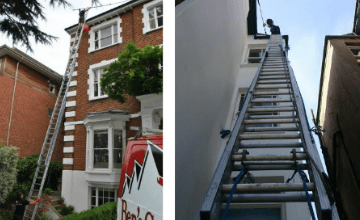 high level gutter cleaning Burton Latimer