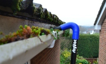 using a gutter vac system in Budleigh Salterton