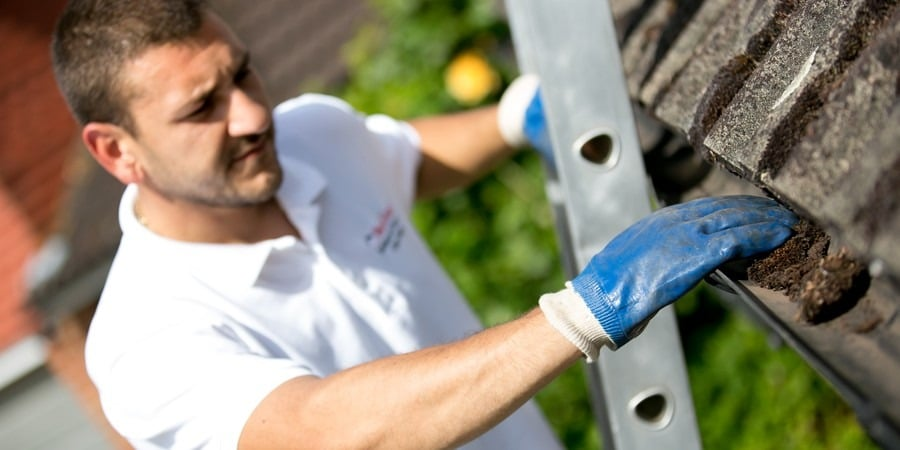 cleaning gutters in Alton
